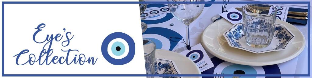 עיצוב שולחן עין כחולה