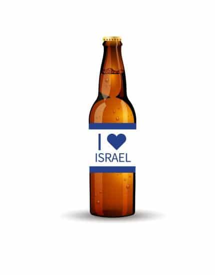 מדבקות לבקבוקי בירה ליום העצמאות