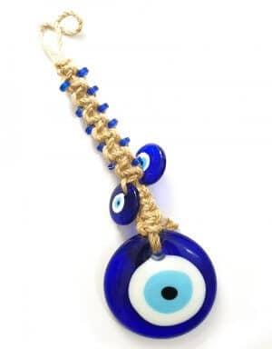 עין כחולה לקישוט ותליה