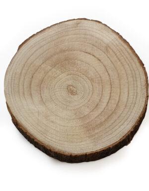 פלטת בול עץ | עיצוב שולחן בוהו