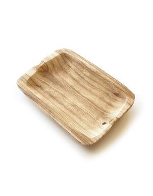 עיצוב שולחן בסגנון טבעי קערת עץ טבעי
