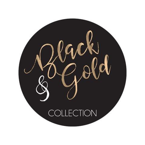 עיצוב שולחן זהב שחור