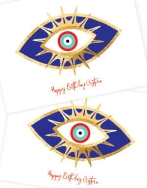 מיתוג פלייסמנטים | עין בכחול וזהב