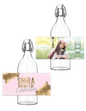 מיתוג לבת מצווה | מדבקות לבקבוקים | דגם תמונה