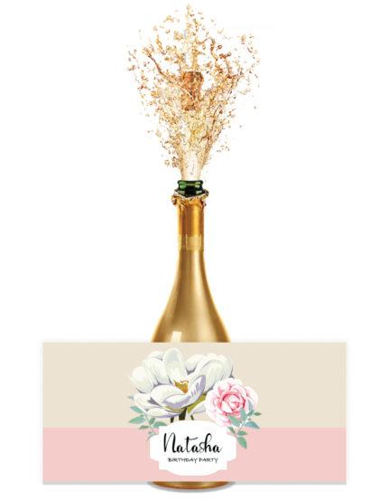 מיתוג בוהו שיק | מדבקות לבקבוקים ואגרטלים | פרחים