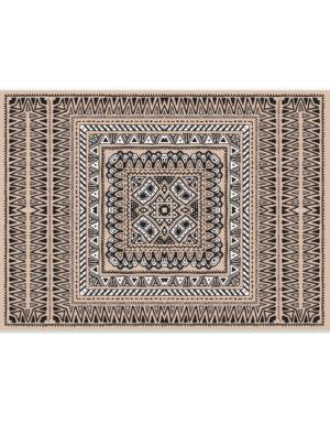 מיתוג בוהו שיק | סט פלייסמנטים XL וכרטיס תואם | שטיח קרם