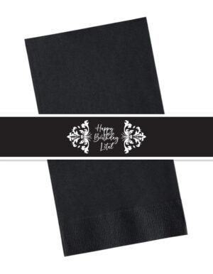 מיתוג אישי | חבקים למפיות| שחור לבן דמשק