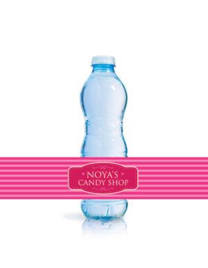 מדבקות לבקבוקי מים | CANDY SHOP | בנות