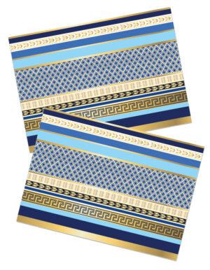 פלייסמנטים | כחול וזהב יוקרתי | ראש השנה | XL