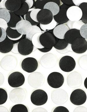 קונפטי טישו שחור לבן