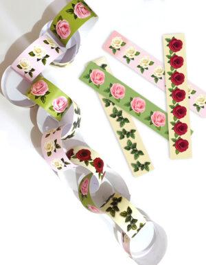 קישוט מהמם לסוכה מסדרת הפרחים - גרלנדת עיגולים -DIY ,הכוללת 50 סטריפים ליצירת שרשרת מושלמת.