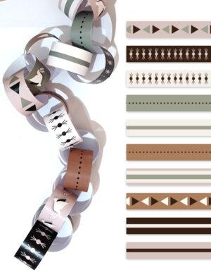 שרשרת עיגולים מסורתית בעיצוב בוהו שיק לסוכה