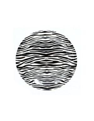 צלחות זברה | שחור לבן | S