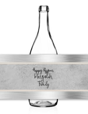 מיתוג לפסח | מדבקות לבקבוקים | בטון קרם וכסף, לעריכת ועיצוב שולחנות פסח 2021
