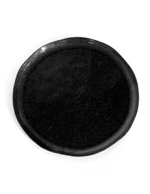 צלחות סוהו בעיצוב שחור עם נצנצים