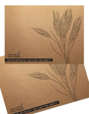מיתוג אישי | פלייסמנטים | שיבולים על נייר קראפט