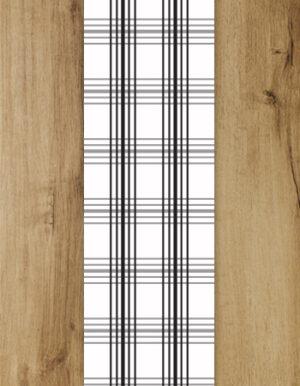 ראנר כפרי עכשווי | מנייר | 3 מטר | פסים שחור